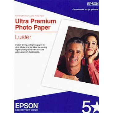 "Epson Ultra Premium Photo Paper Luster - 13"" x 19"" - 50 sheets"