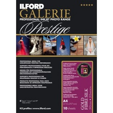 "Ilford Galerie Prestige Gold Fibre Silk 310gm2 - 13"" x 19"" - 50 sheets"